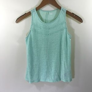 Old Navy Girls Mint Green Tank Top Size 12